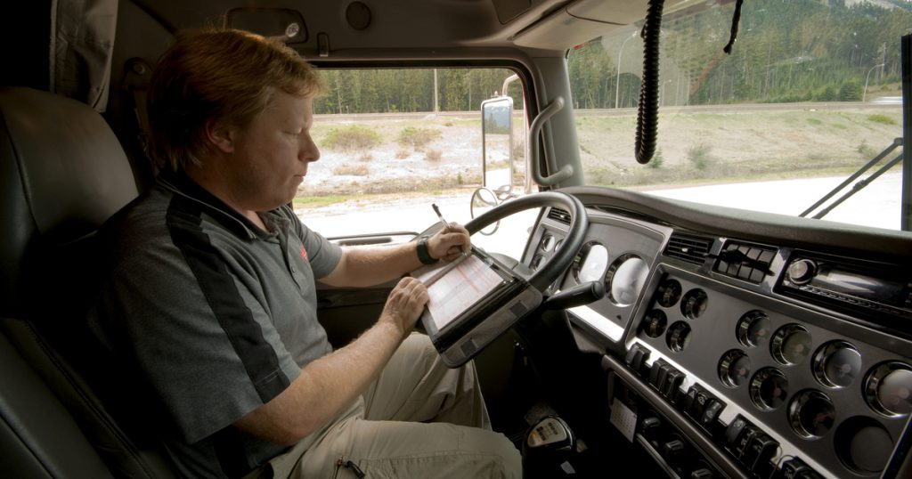 Truck driver getting FMCSA HOS exemptions for essential goods