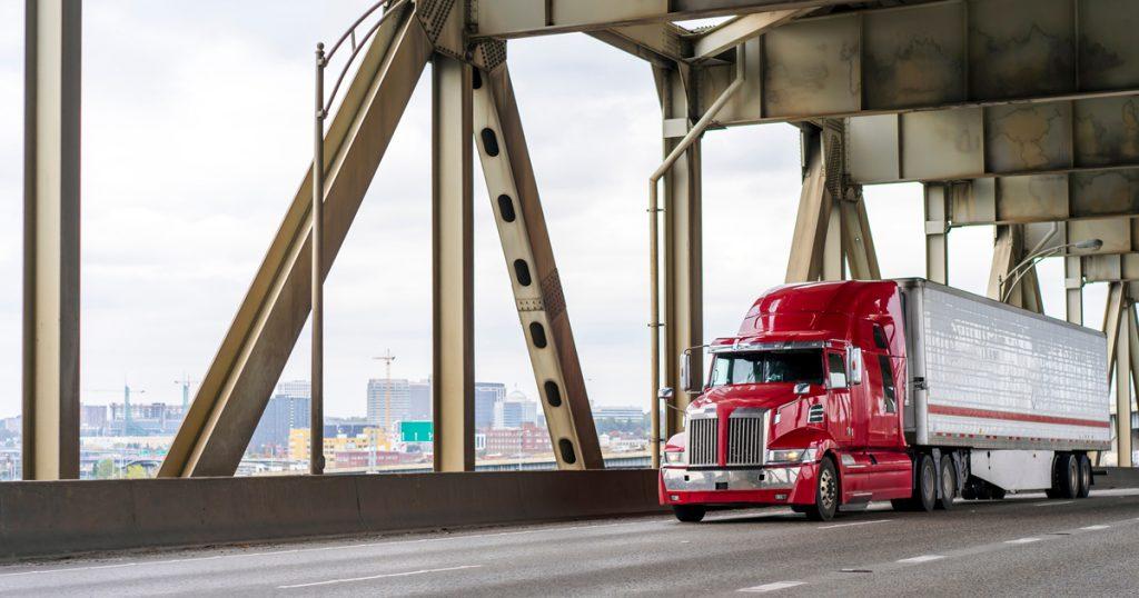 Trucker on bridge filing Form 7200