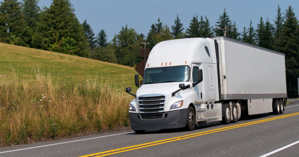 Truck on interstate filing 2020 Form 2290