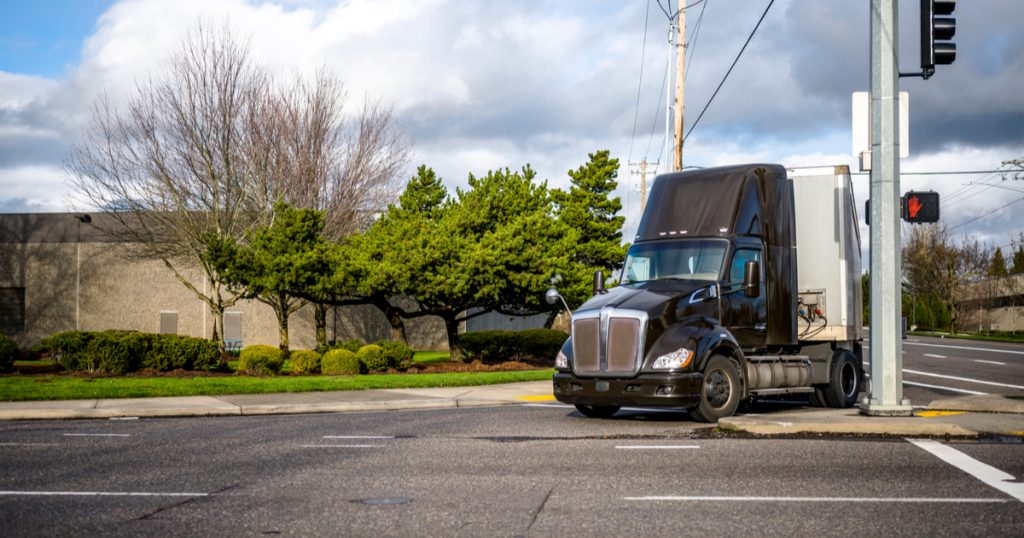 Brown truck with FMCSA HOS changes