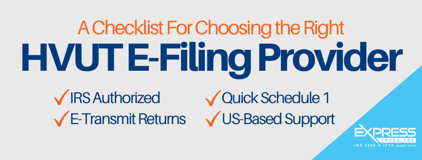 checklist to choose the right form 2290 efile provider