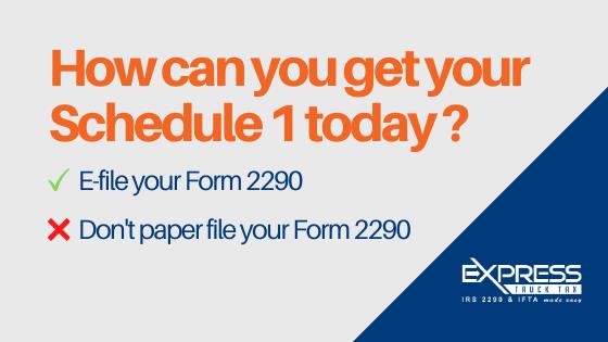 get Form 2290 schedule 1 in minutes