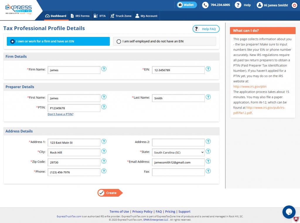 Form 2290 Filing for Tax Professionals - ExpressTruckTax Account Set Up