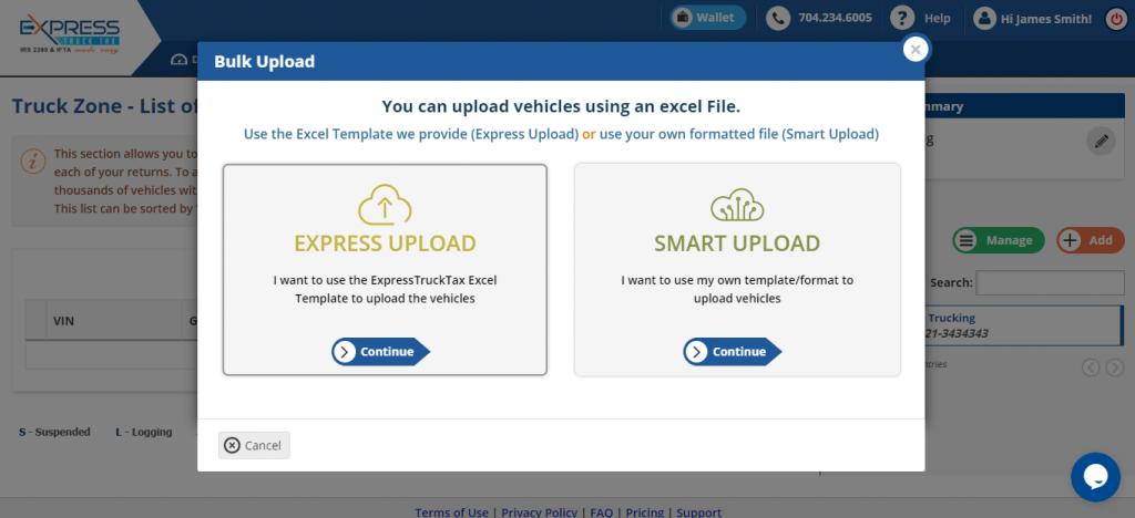 Bulk Upload Form 2290 Vehicle Details