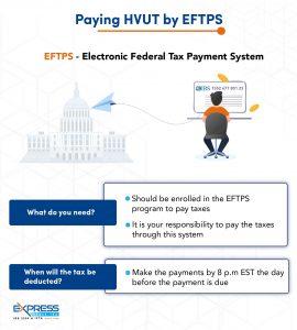 pay hvut by eftps