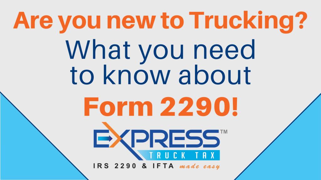 Form 2290 on Express Truck Tax